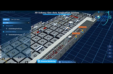 3D Subway Geo-data Application System